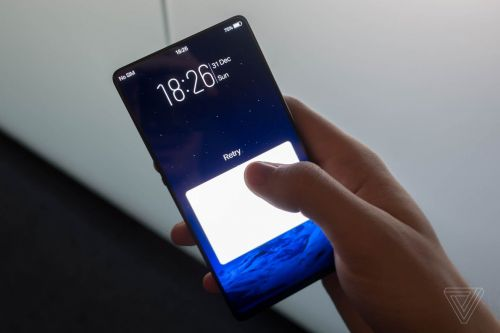Vivo's 'Apex' concept phone has a 'half-screen' fingerprint scanner and a retracting selfie camera