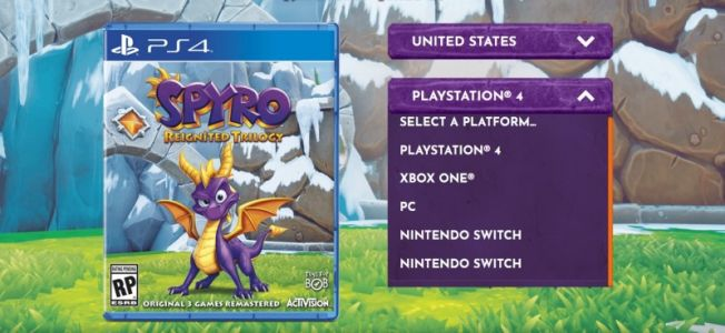 Spyro Reignited Trilogy Website Lists Unannounced PC And Switch Versions