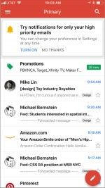 Gmail for iOS Intros Notifications for High-Priority Messages Only