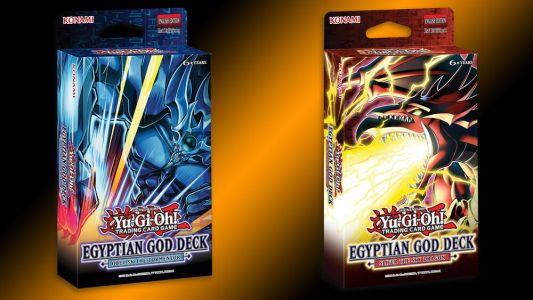 Two of the Egyptian God Cards from YU-GI-OH! are Getting Structure Decks