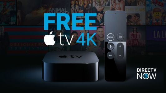 DirecTV Now is offering a free Apple TV 4K when you prepay for three months of service