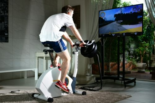 Virchybike Lite indoor bike puts you in the heat of the race