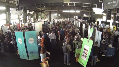 A taster of Startup Alley from this week's TechCrunch Disrupt San Francisco