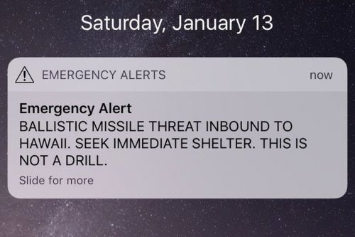 CDC confirms that the false ballistic missile alarm in Hawaii pissed people off