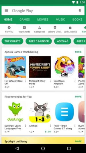Google Play Store's Nested Tabs Rolling Out To More Users