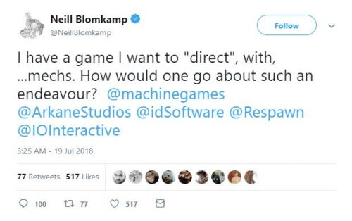 Neill Blomkamp Wants to Make a Mech Game