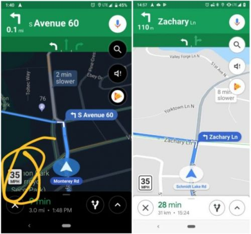 Google Maps speed limit feature is rolling out to more users