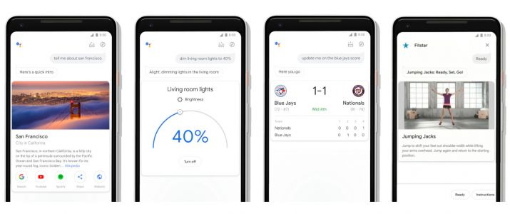 Google Assistant has bigger images and new interactive elements