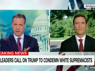 "'I haven't heard you say ""I condemn white supremacists""': Jake Tapper confronts White House adviser over Trump's refusal to explicitly call out neo-Nazis"