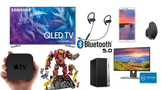 Geek Deals: Anker Bluetooth 5.0 Headphones for $30, Samsung QLED 4K TV for $800 at Walmart