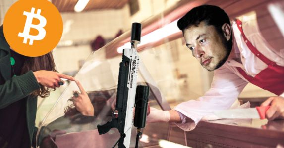 You can now buy Elon Musk's 'Not A Flamethrower' with Bitcoin