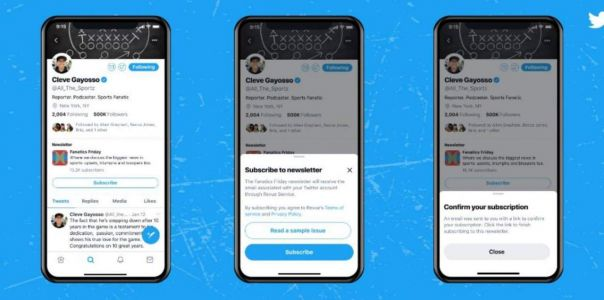 Twitter is bringing Revue newsletter signup buttons to profiles