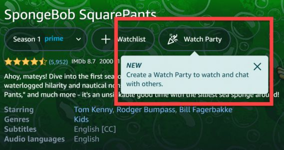 Amazon Prime Video rolls out Watch Party feature for movies with friends