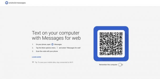 Android Messages for web desktop site is now live