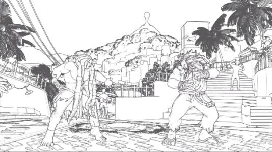 Street Fighter V Shader Mod Turns Art Style Into A Black And White Sk