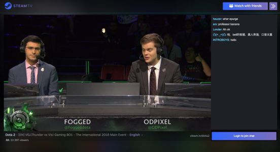 Steam TV goes live again to stream 'Dota 2' tournament