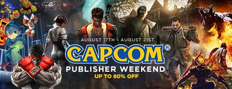 Capcom Publisher Weekend, Up to 80% Off!