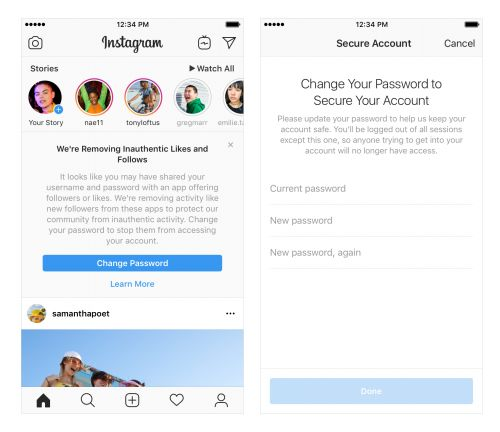 Instagram will soon start cracking down on accounts that use third-party apps to dole out fake likes and followers
