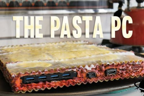 Stop what you're doing, and gaze upon this PC made out of pasta