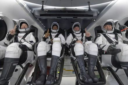Crew-1 astronauts splash down safely off the Florida coast