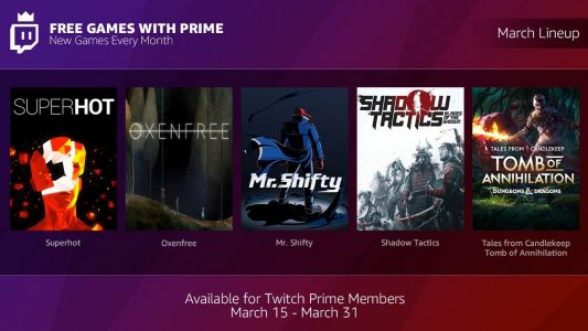 Amazon and Twitch are giving free games to Prime members every month