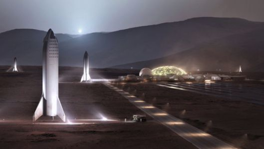 Elon Musk shows off concept for SpaceX Mars base, says it could be underway by 2028