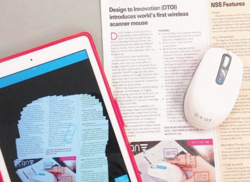 This wireless mouse has a built-in document scanner and now we've seen everything