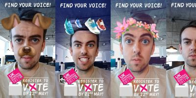The Electoral Commission is using Snapchat to try to get young people to register to vote