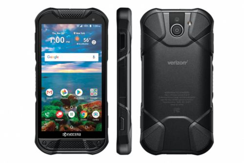 Kyocera's new rugged phone has a sapphire screen and a fingerprint sensor