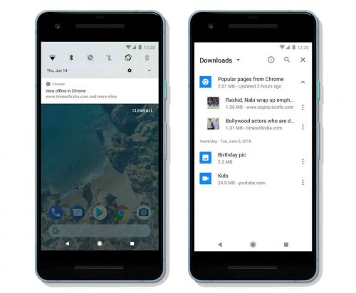 Google Chrome for Android can automatically download articles for offline reading