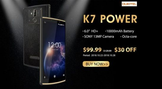 Surprise flash sale of the OUKITEL K7 Power only for $99.99