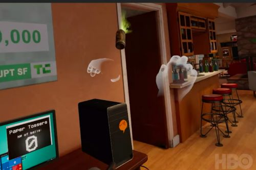 Silicon Valley's VR experience looks ironically fun