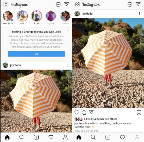 Instagram will now hide likes in 6 more countries