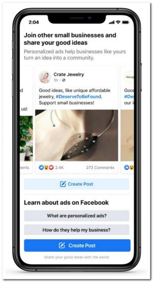 Facebook wants you to believe that ads are good in the name of small businesses