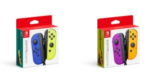Nintendo launches new Joy-Con colours, blue/neon yellow and purple/neon orange