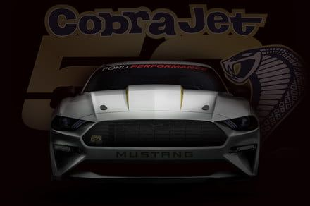 Ford promises the Mustang Cobra Jet dragster will be a mid-eight-second car
