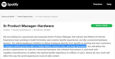Spotify Could Be Looking To Enter The Wearables Market