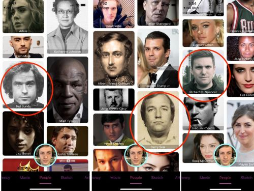 Blippar's celebrity face-mashing app is filled with pictures of killers, terrorists, and dictators
