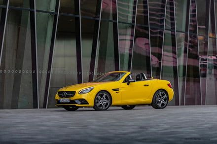 Mercedes lets the sun shine in one last time with SLC Final Edition convertible