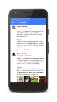Google Maps & Search Reviews Now Automatically Translated