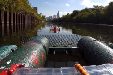 You can control this robot as it trawls the Chicago River picking up trash