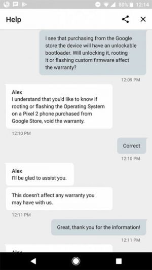 Rooting The Google Pixel 2 May Not Void Your Warranty