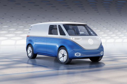 VW's I.D. Buzz Cargo is an electric delivery van with a hint of flower power