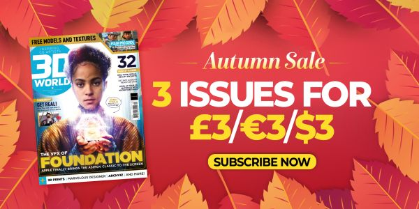Autumn sale! Get 3 issues for just $3/£3! when you subscribe to 3D World