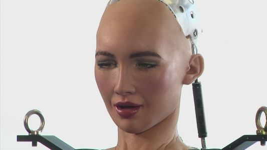 Sophia the robot takes her first steps