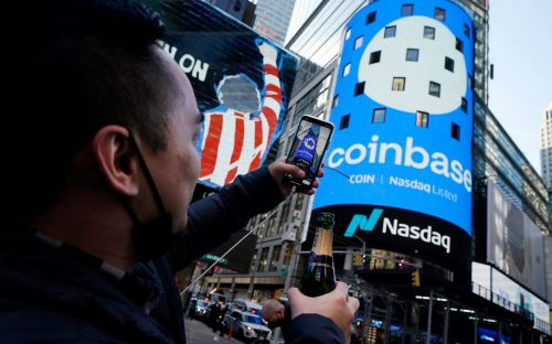 Bitcoin at record highs as Coinbase prepares for $100bn listing - live updates