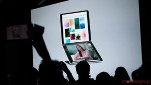Here's what system navigation looks like on Microsoft's Surface Duo