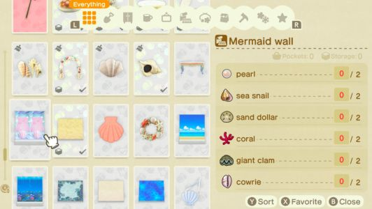 All Mermaid DIYs And Clothing Items In Animal Crossing: New Horizons