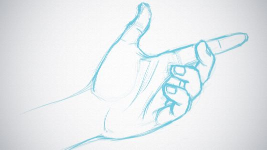 How to quickly sketch hands