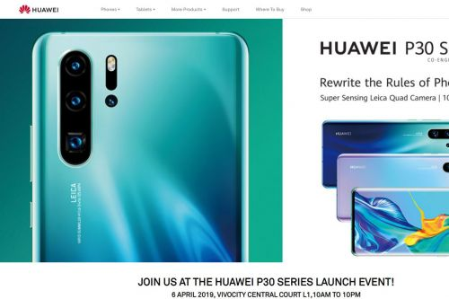 Huawei leaks full P30 details on its own website